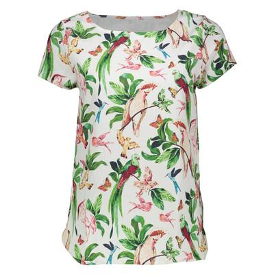 تصویر تی شرت زنانه مدل پرنده کد 01
