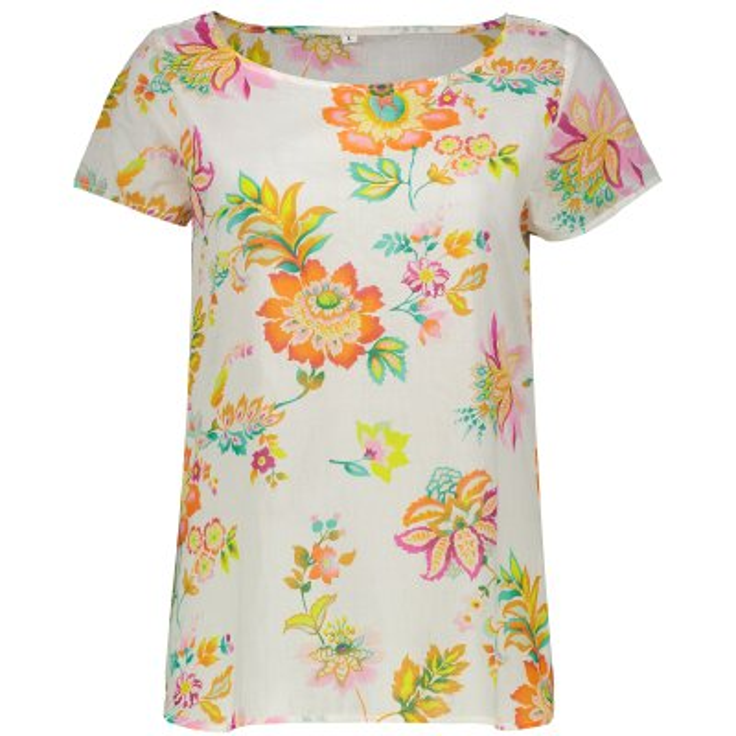 تصویر تی شرت زنانه طرح گل کد 01