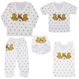 ست 5 تکه لباس نوزاد کد G001