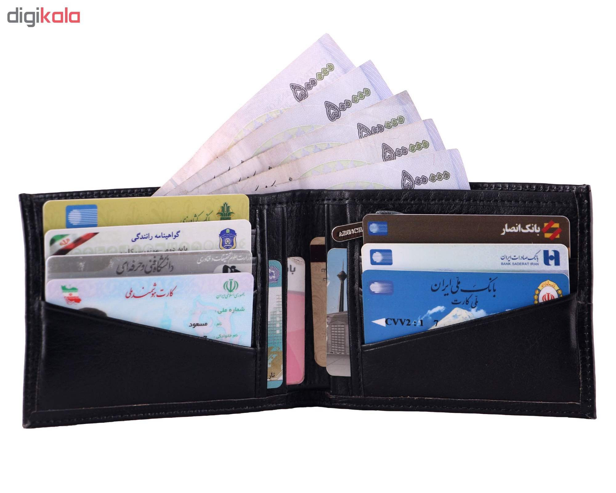 کیف پول مردانه آدین چرم کد DM78 main 1 12