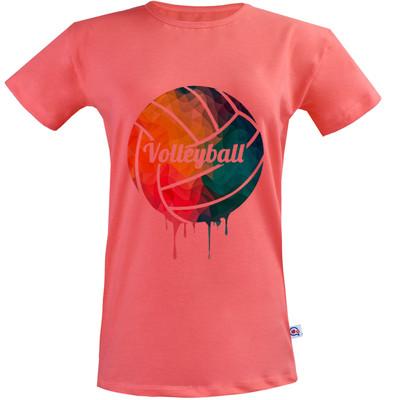 تی شرت زنانه آکو طرح والیبال کد SG131