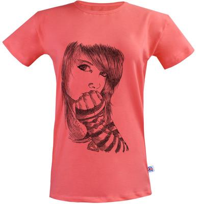 Photo of تی شرت زنانه آکو طرح دختر کد SG132