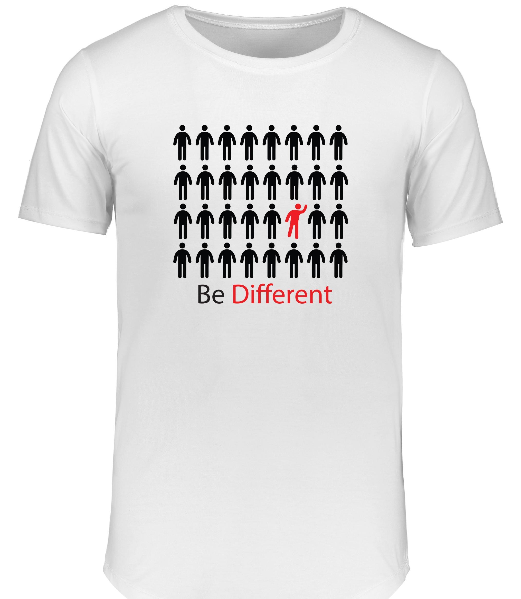 تیشرت مردانه آی برند طرح متفاوت باش کد 15986
