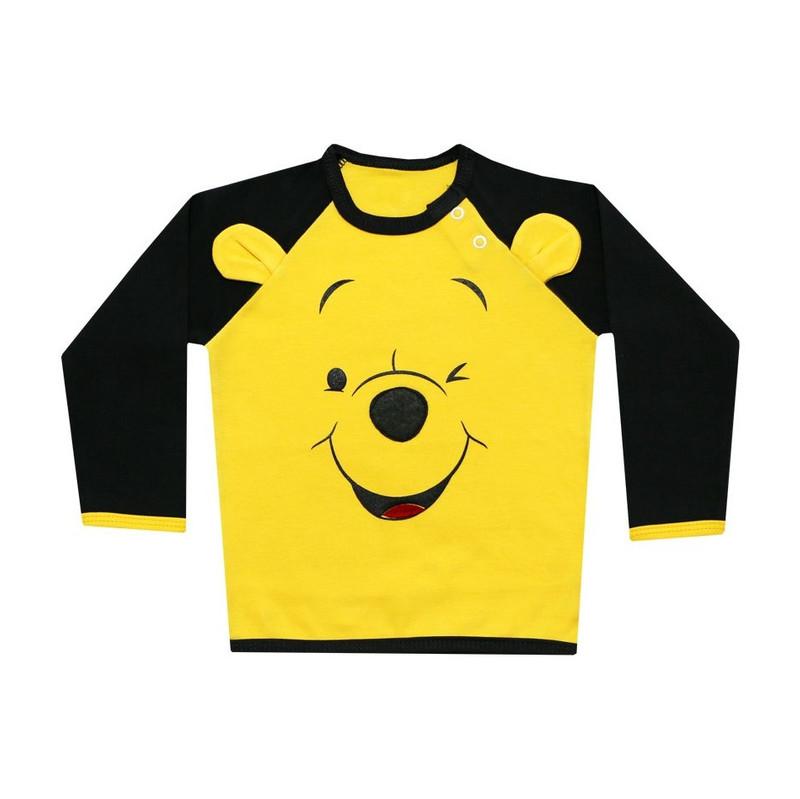 ست تیشرت آستین بلند و شلوار نوزادی پسرانه طرح خرس بازیگوش کد 21