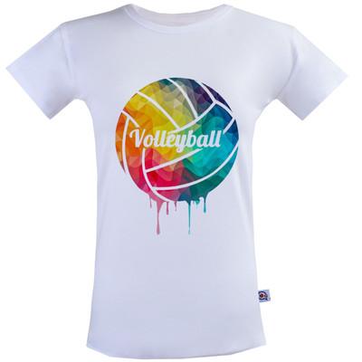 تصویر تی شرت زنانه آکو طرح والیبال کد SS131
