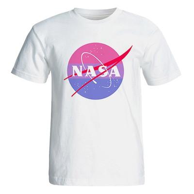 تصویر تی شرت آستین کوتاه زنانه طرح ناسا کد 35003