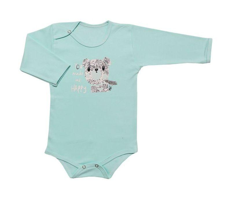ست بادی آستین بلند و شلوار نوزادی طرح خرس کد 10-11 -  - 4