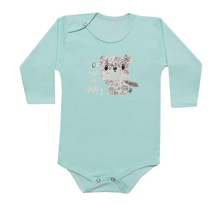 ست بادی آستین بلند و شلوار نوزادی طرح خرس کد 10-11 -  - 5