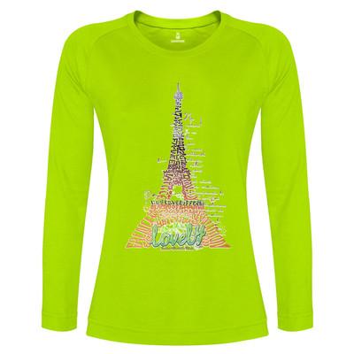 تی شرت آستین بلند زنانه ساروک طرح Eiffel کد 03