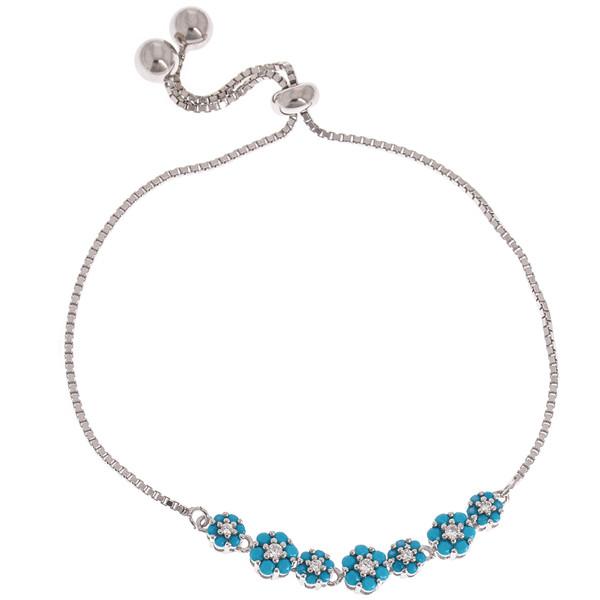دستبند نقره زنانه کد 2157