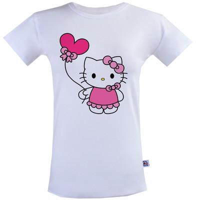 Photo of تی شرت زنانه آکو طرح کیتی کد BS99
