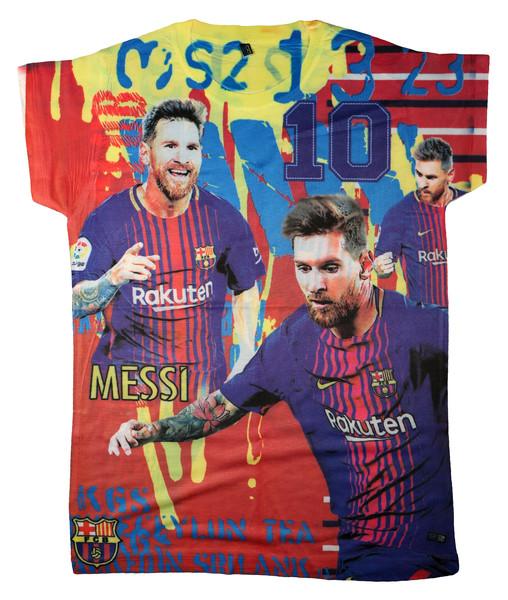 تیشرت پسرانه طرح بارسلونا مسی کد 112