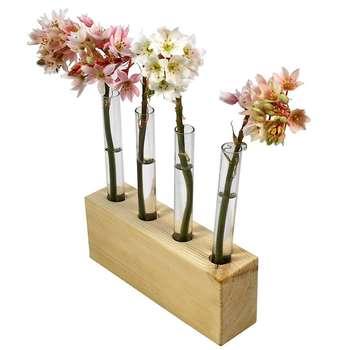 گلدان چوبی گلدونه مدل GWV01