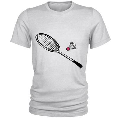 تصویر تی شرت مردانه طرح بدمینتون کد S120
