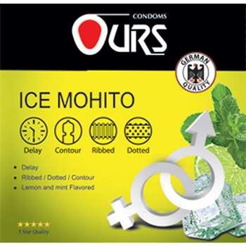 کاندوم تاخیری اورز مدل Ice Mohito بسته 3 عددی