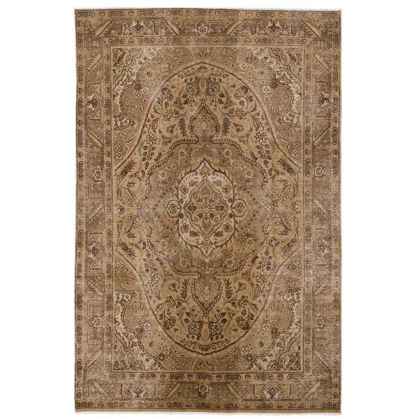 فرش دستباف رنگ شده شش متری حیدریان کد 2270