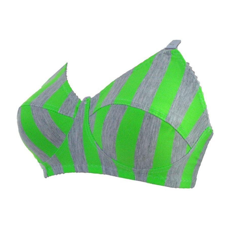 سوتین زنانه طرح زبرا رنگ سبز main 1 1