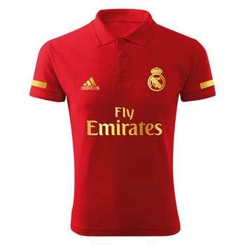 پولو شرت ورزشی  مردانه طرح رئال مادرید کد R1804