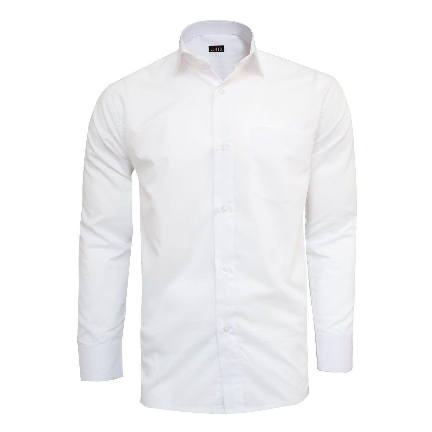 پیراهن مردانه نوید مدل TET-DAK کد 20294 رنگ سفید main 1 1