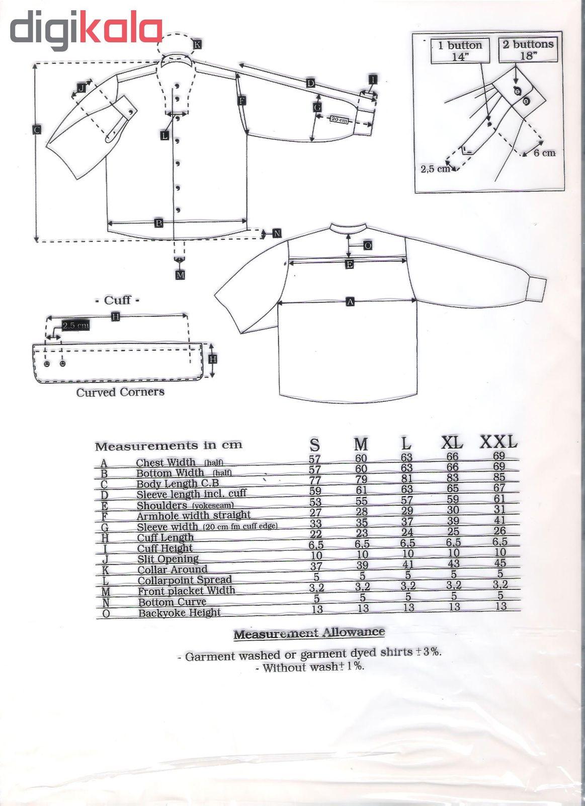 پیراهن مردانه نوید مدل TET-DAK کد 20294 رنگ سفید main 1 4
