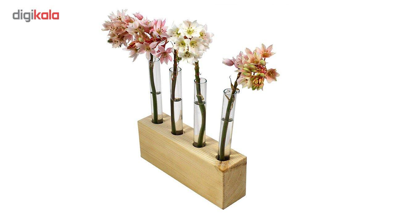 گلدان چوبی گلدونه مدل GWV01 main 1 1