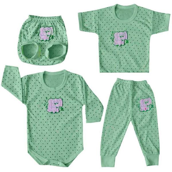 ست 4 تکه لباس نوزادی پسرانه مدل S-133