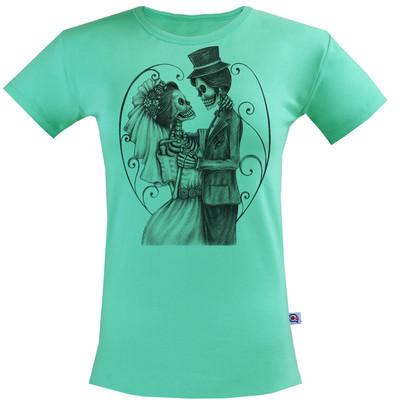 تی شرت زنانه آکو طرح Love bone کد NZc021