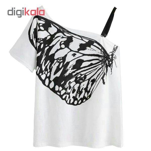 بلوز زنانه طرح پروانه کد 105