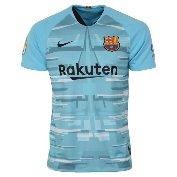 تیشرت ورزشی مردانه طرح بارسلونا مدل kepeer1920 رنگ آبی