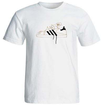 Photo of تی شرت آستین کوتاه مردانه طرح کتونی کد 2400