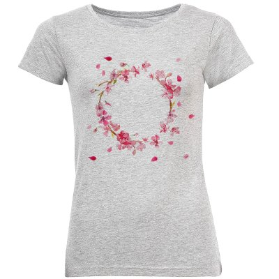 Photo of تی شرت آستین کوتاه زنانه طرح حلقه گل کد S290
