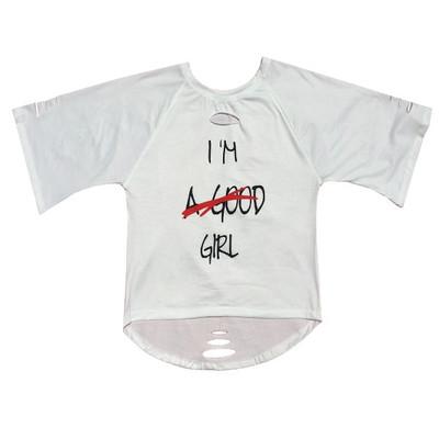 تی شرت آستین کوتاه زنانه طرح  good girl کد 83