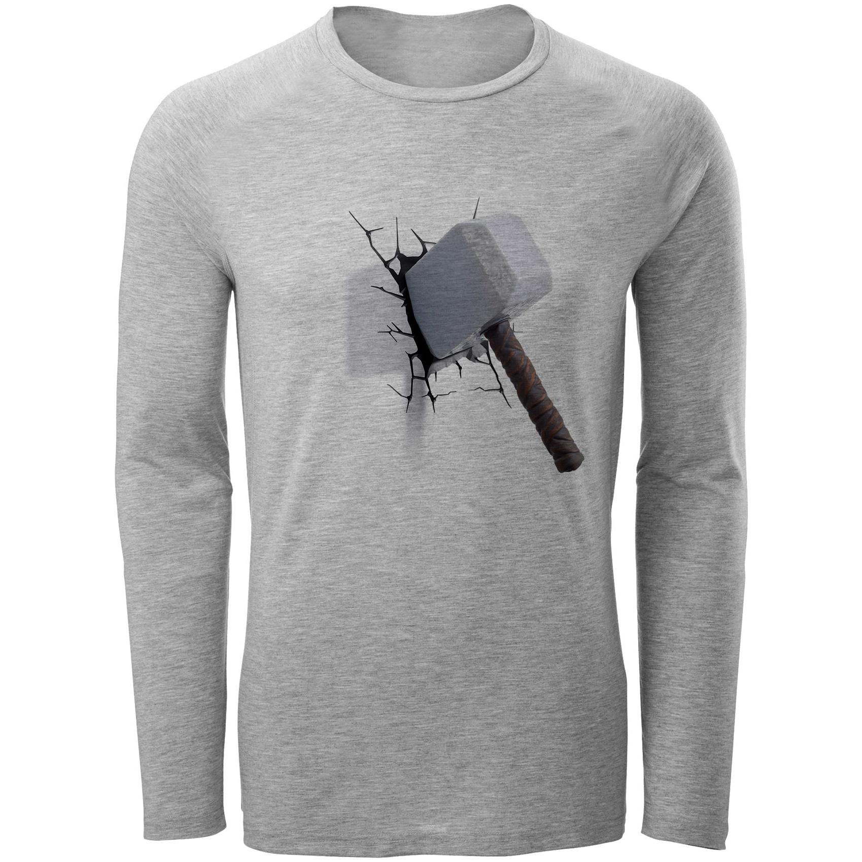 خرید ارزان تی شرت آستین بلند مردانه طرح پتک مدل S275