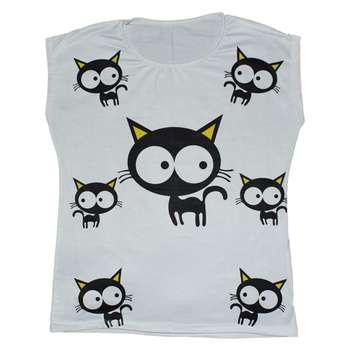 تیشرت زنانه طرح گربه ها کد 105