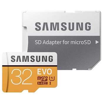کارت حافظه microSDHC سامسونگ مدل Evo کلاس 10 استاندارد UHS-I U1 سرعت 95MBps همراه با آداپتور SD ظرفیت 32 گیگابایت