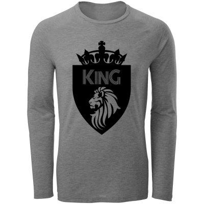 تی شرت آستین بلند مردانه طرح King مدل S21