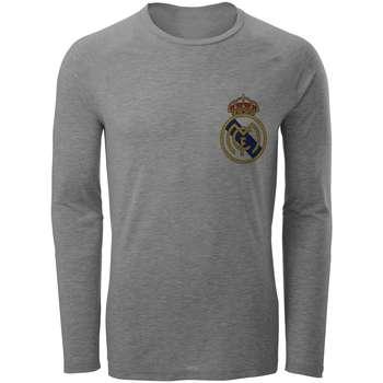 تی شرت آستین بلند مردانه طرح رئال مادرید مدل S26