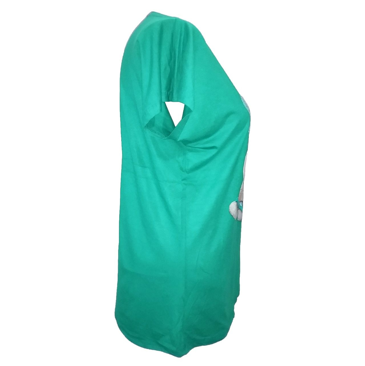 تی شرت نه طرح گربه مدل tm-512 رنگ سبز
