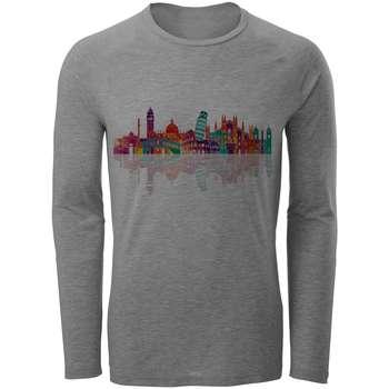 تی شرت آستین بلند مردانه طرح شهر مدل S29