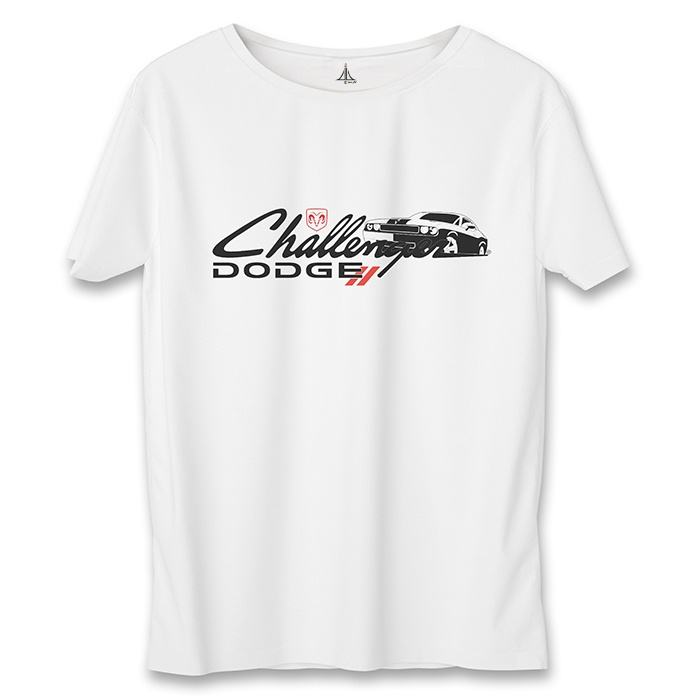 تصویر تی شرت زنانه به رسم طرح دودج چلنجر کد 5548