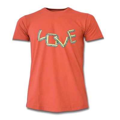 تصویر تیشرت زنانه طرح Love کد L70 رنگ نارنجی