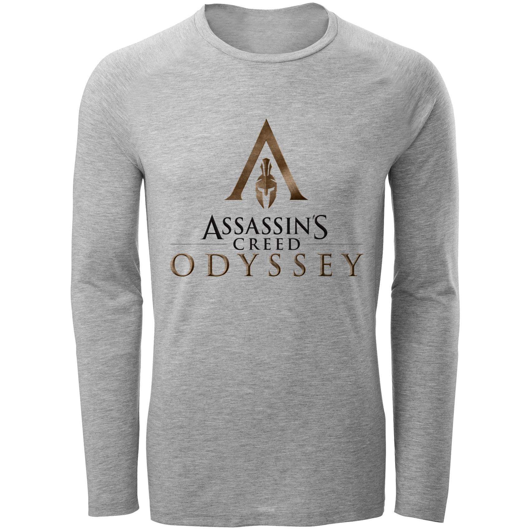تی شرت آستین بلند مردانه طرح assassins کد S288