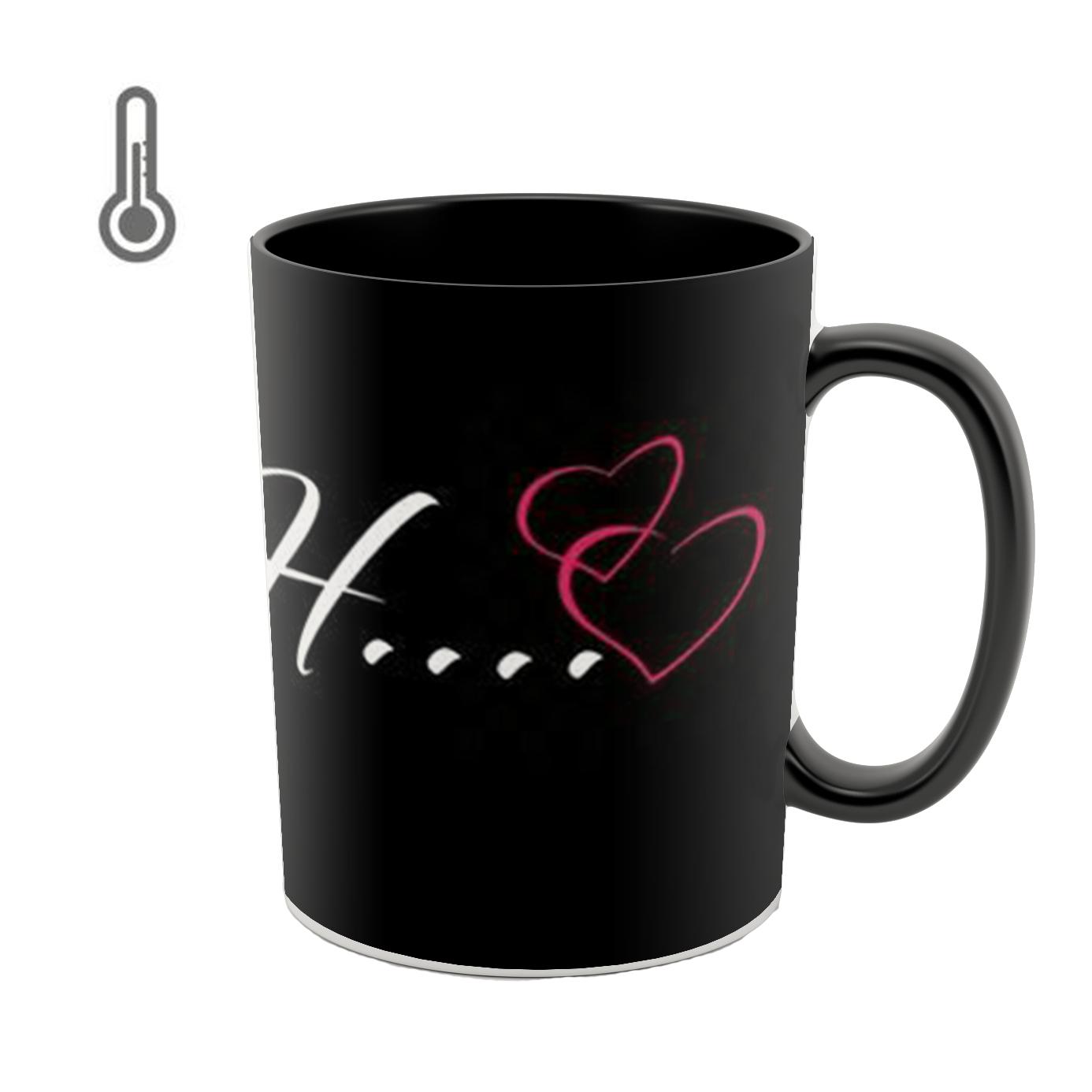 عکس ماگ حرارتی طرح قلب مدل H