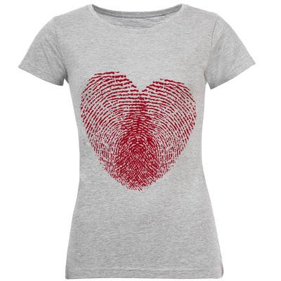 تی شرت آستین کوتاه زنانه طرح قلب کد S161