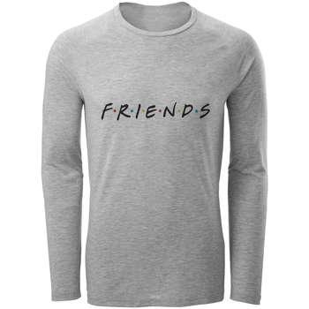 تی شرت آستین بلند مردانه طرح دوست مدل S263