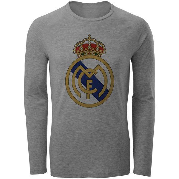 تی شرت آستین بلند مردانه طرح رئال مادرید مدل S27