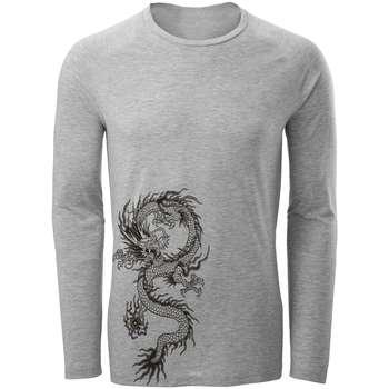تی شرت آستین بلند مردانه طرح اژدها کد S314