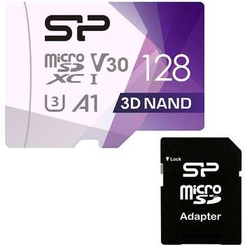 کارت حافظه microSDXC سیلیکون پاور مدل Superior Pro کلاس 10 استاندارد UHS-I U3 سرعت 100MBps ظرفیت 128 گیگابایت به همراه آداپتور SD