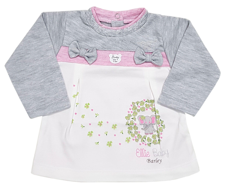 ست تی شرت و شلوار نوزادی دخترانه طرح فیل
