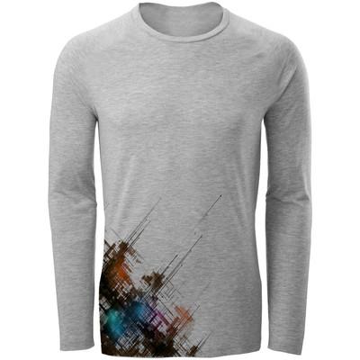 Photo of تی شرت آستین بلند مردانه طرح انتزاعی مدل S316